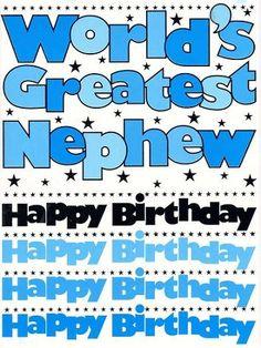 Worlds Greatest Nephew Birthday Card