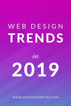 Top 10 web design trends you need to be aware of in 2019 — BoostingWriter Web Design Projects, Web Design Tips, Graphic Design Trends, Web Design Inspiration, Layout Design, Logo Design, Digital Marketing Strategy Template, Digital Marketing Trends, Business Marketing