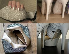glitter shoes DIY