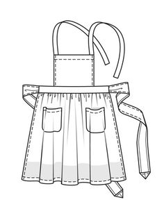 awesome site cat showed me! Sewing Hacks, Sewing Crafts, Sewing Projects, Sewing Aprons, Sewing Clothes, Pattern Cutting, Pattern Making, Apron Pattern Free, Apron Dress