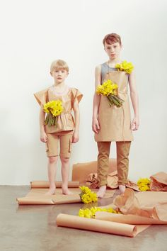 Easter kids fashion botanical shoot by Emma Tunbridge for spring 2015