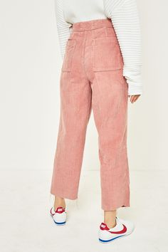 caf732c08c49 Slide View  4  BDG Pink Corduroy Cocoon Trousers Pantsuits For Women