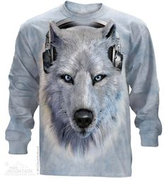 453518 White Wolf Dj Long Sleeved Tee - Clearance