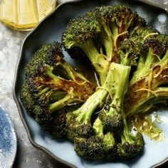 Roasted Broccoli with Lemon-Garlic Vinaigrette - EatingWell.com