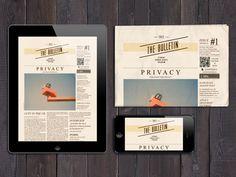 Bulletin for UCL | Editorial design by Guilherme de Bernardo S., via Behance