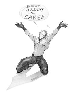 "Wally West. Young Justice. ""My body is ready!...for CAKE!"