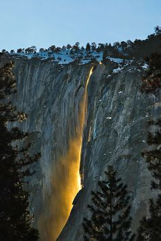 Yosemite National Park - Horsetail Falls.