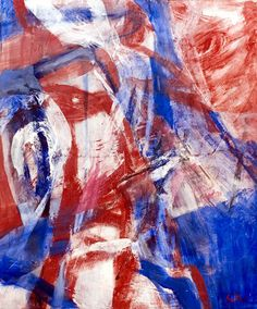 Inger Sitter Trondheim, Antwerp, Brush Strokes, Art History, Abstract, Artist, Red, Blue, Painting