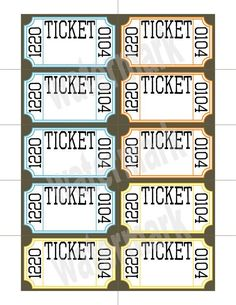 printable raffle tickets with numbers