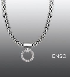 Circle pendant and necklace. LAGOS Jewelry | Enso collection #strongstyle Available at Johnson's Jewelers Olde Raleigh!