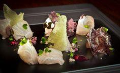 Kampachi sashimi .