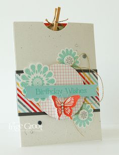 Stampin' Cards And Memories: Stampin'Club Juni #2, Polka-Dot Pieces, Four You, Bird Punch, Elegant Butterfly, I Am Me DSP