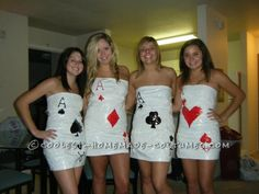 Coolest Sexy Four of a Kind Cards Group Costume... Coolest Homemade Costumes
