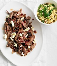 Slow-cooked lamb with pomegranate and cous cous recipe | In season | Food | MiNDFOOD