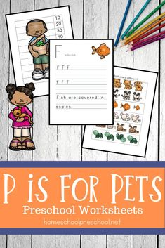 Looking for a new printable pack to use with your preschoolers? Don't miss these pet activities for preschool! Fun math and literacy activities. Preschool Books, Free Preschool, Preschool Printables, Preschool Lessons, Preschool Worksheets, Free Printables, Hands On Activities, Literacy Activities, Preschool Activities