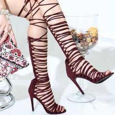 Lace Up Multi Strap Gladiator Heels