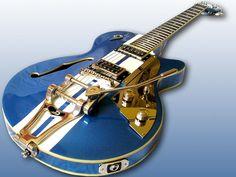 Rule: Guitars with racing stripes are cool.  | www.errico.com #dusenberg #guitar