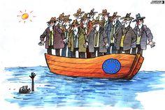 Campaña de crítica social ante la falta de ayuda por parte de Europa a los inmigrantes que cruzan el mar
