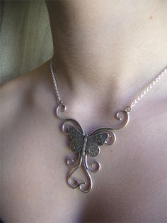Butterfly Tattoo Necklace