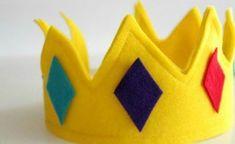 Espaço Infantil Coroa Infantil de Feltro Passo a Passo