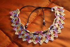 8468003802_5e5bce7ec6_n...leather and lace.. Free pattern!!