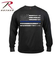 3925-A.jpg Rothco carries a large selection of Thin Blue Line apparel including Thin Blue Line Hats and Shirts, including our long sleeve Thin blue line T-shirt. <br />