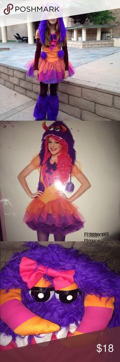 Halloween costume Fun and colorful costume.  Comes with the hat and the boot covers.  In excellent condition, my daughter wore it once only Leg Avenue Costumes Halloween