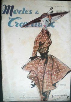 Fashion Couture Modes et Travaux avril 1949 n°580. Jacques FATH