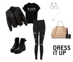 """""""black is my style"""" by maarina-nascimento on Polyvore featuring LE3NO, Topshop, Ana Accessories e Tiffany & Co."""