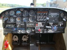 1967 Piper Cherokee 140 Instrument Panel with a Garmin 396 ...