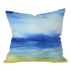 Sea Church Pillow by Jacqueline Maldonado