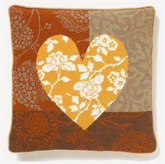 Patchwork Heart - Saffron - Strik og broderi - garn, kits og designs i Sommerfuglen