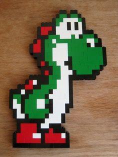 Lego Mario, Lego Super Mario, Mario Bros, Legos, Perler Beads, Fuse Beads, Pixel Art, Lego Bedroom, Bedroom Kids