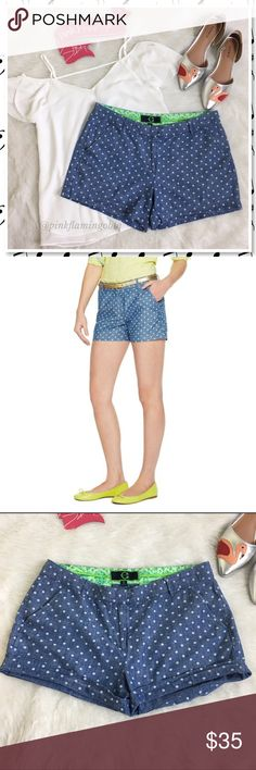"""C. Wonder Chambray Polka Dot Cotton Shorts Blue with white polka dot chambray shorts by C. Wonder. Super comfortable shorts have a lighter chambray hand feel and are perfect for hot weather. Side slit pockets, back welt pockets, belt loops zip and slide bar closure. EUC high end brand. Perfect for boating, picnics, concerts in the park, a day in the city, brunch, happy hour.. you get the idea. ⚡️White flutter sleeve could shoulder top sold separately (S-M)⚡️Waist 16.5"""" Inseam 3.5"""" Rise 9"""" C…"""