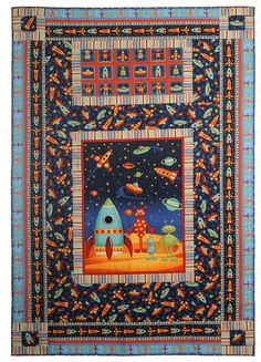 space quilt from Makower Fabric