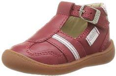 ASTONISH  Pibop 359861-10 – Zapatos de cuero para bebé niño, color rojo, talla 18