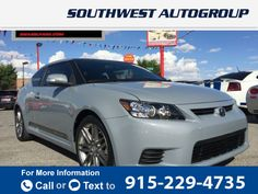 2012 *Scion*  *tC* *2dr* *HB* *Auto* *(Natl)*  62k miles $10,995 62446 miles 915-229-4735  #Scion #tC #used #cars #SouthwestAutoGroupofElPaso #ElPaso #TX #tapcars