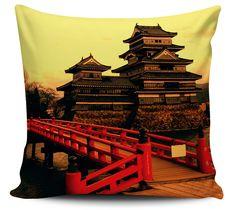 Almofada Decorativa Templo Japonês