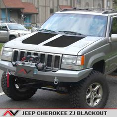<p>High quality automotive grade vinyl hood blackout cut exactly to fit the Jeep Cherokee ZJ 1993-1998 Hood.  Reduce glare or cover up damaged clear-coat/paint with this hood blackout that's sure to make your Jeep stand out from the rest.  Available in a variety of finishes, comes with a free installation kit ($13.95 value!). The kit includes 3.5oz Action Tac Application Spray, Plastic felt lined Squeegee, and a Utility Knife making installation a breeze.</p> <p> </p>