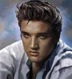 *ELVIS ~ Sara Lynn Sander´s great Elvis-art. Please don't crop any of the artists work