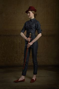 Kätlin Mikker for Chapter One / Raw handcrafted denim shirt and Raw Rathaus Walking Pants by Reval Denim Guild. MINU