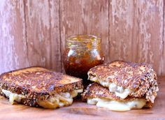 Smokey Havarti Caramelized Onions and Fig Jam Grilled Cheese.