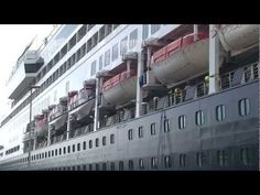"""Cruise ships """"Rotterdam"""" and """"Ryndam"""" horn blowing and turning in Rotterdam Port on June 26, 2011 - YouTube"""