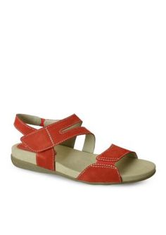 David Tate Red Squish Sandal