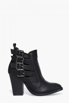 Dominic Buckled Booties in Black | Necessary Clothing