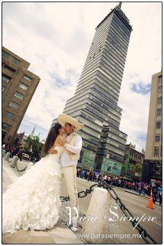 Trash The Dress en la Ciudad de Mexico, Torre Latinoamericana