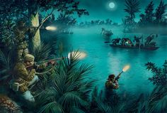 US Navy SEALs launch an ambush along a Viet Cong infiltration route in the Mekong Delta.