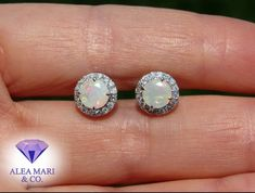 Beautiful 1.3ct Ethiopian Opal and Diamond Earring Posts in 14kt Or Rose, Rose Gold, Custom Checks, Thing 1, Opal Earrings, Diamond Studs, Natural Diamonds, Fine Jewelry, Posts