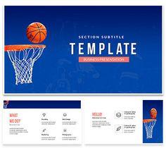 NBA basketball PowerPoint template Presentation