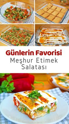 Etimekli Yoğurtlu Gün Salatası (videolu) – Nefis Yemek Tarifleri How to make Day Salad with Meat Yogurt (with video) Recipe? Illustrated explanation of this recipe in the book of people and photographs of those who try it here. Yummy Recipes, Dinner Recipes, Yummy Food, Meat Recipes, Baked Gnocchi, Meat Salad, Wie Macht Man, Snacks Für Party, Greens Recipe